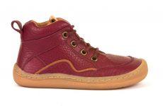 Froddo barefoot kotníkové celoroční boty bordeaux - tkaničky | 20, 21, 22, 23, 24, 37, 39, 40