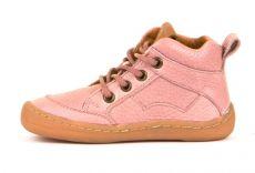 Froddo barefoot kotníkové celoroční boty pink - tkaničky