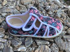 Jonap papučky otevřené šedé se srdíčky | 29,5