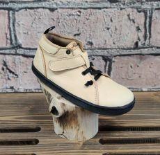 Barefoot kožené boty Pegres  BF52 - béžová | 26, 27, 28, 29, 30, 31, 32, 34