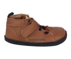 Barefoot kožené boty Pegres  BF52 - hnědá | 26, 27