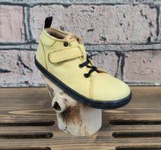 Barefoot kožené boty Pegres  BF52 - žlutá | 26, 27, 28, 29, 34