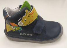DDstep 070 celoroční boty - modrá se žirafou | 22