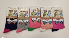 Dětské ponožky pro holky - lišák s mašlí   24-27, 28-31, 32-35