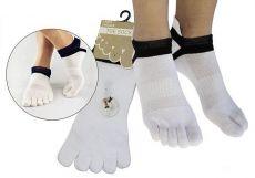 Prstové ponožky pro dospělé Prstan 01 - bílá   36-41
