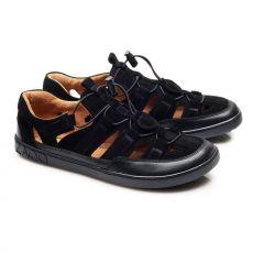 Sportovní kožené sandále ZAQQ QLEAR Black | 39