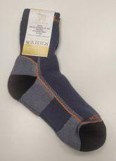 Surtex ponožky froté - 95 % merino černé s oranžovým nápisem   41-43