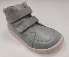 Barefoot Baby bare shoes Febo Fall grey/pink třpytivé bosá