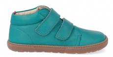 Barefoot celoroční obuv KOEL4kids - VELVET turquoise | 32, 34, 35