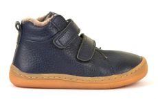 Froddo barefoot zimní kotníkové boty blue s pravým kožíškem | 20, 21, 22, 23, 24, 25, 26, 27, 37, 38, 39, 40