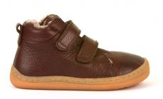 Froddo barefoot zimní kotníkové boty brown s pravým kožíškem | 20, 21, 22, 23, 24, 25, 36, 37, 38, 39, 40