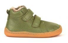 Froddo barefoot zimní kotníkové boty olive s pravým kožíškem | 20, 21, 22, 23, 24, 37, 38, 40