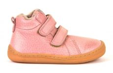 Froddo barefoot zimní kotníkové boty pink s pravým kožíškem | 20, 22, 25, 26, 27, 29, 37, 38, 39, 40