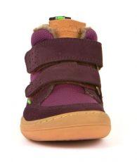 Barefoot Froddo barefoot zimní kotníkové boty purple bosá