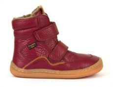Froddo barefoot zimní vysoké boty bordeaux - s membránou | 23, 24, 25, 26, 27, 28, 29, 30, 31, 32, 33, 34, 35