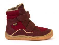 Froddo barefoot zimní vysoké boty bordeaux s membránou | 23, 24, 25, 26, 27, 28, 29, 30, 31, 32, 33, 34, 35