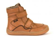 Froddo barefoot zimní vysoké boty cognac - s membránou | 23, 24, 25, 26, 27, 28, 29, 30, 31, 32, 33, 34, 35