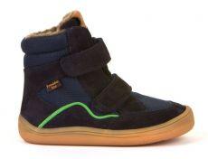 Froddo barefoot zimní vysoké boty dark blue - s membránou | 23, 24, 25, 26, 27, 28, 29, 30, 31, 32, 33, 35