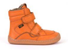 Froddo barefoot zimní vysoké boty orange - s membránou | 23, 24, 25, 26, 27, 28, 29, 30, 31, 32, 33, 34, 35