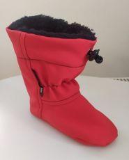 Softshellové capáčky - červené | 14 cm