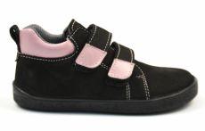 Barefoot kožené celoroční boty EF Bibi Black Rose | 26, 27, 28, 29, 30, 31, 32, 33