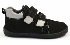 Barefoot kožené celoroční boty EF Spike Black Grey | 29, 30, 31, 33