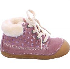 Lurchi zimní barefoot boty - FROZY suede wildberry | 23