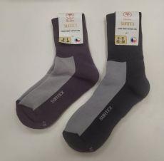Surtex merino sportovní ponožky froté - šedé   41-43, 43-46