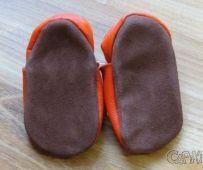 Barefoot Kožené capáčky - SLONÍK malinový AFELO bosá