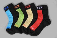 Dětské Surtex merino ponožky froté - tenké červené