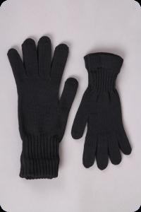 Barefoot Surtex rukavice tmavé 100% merinové vlny silné bosá