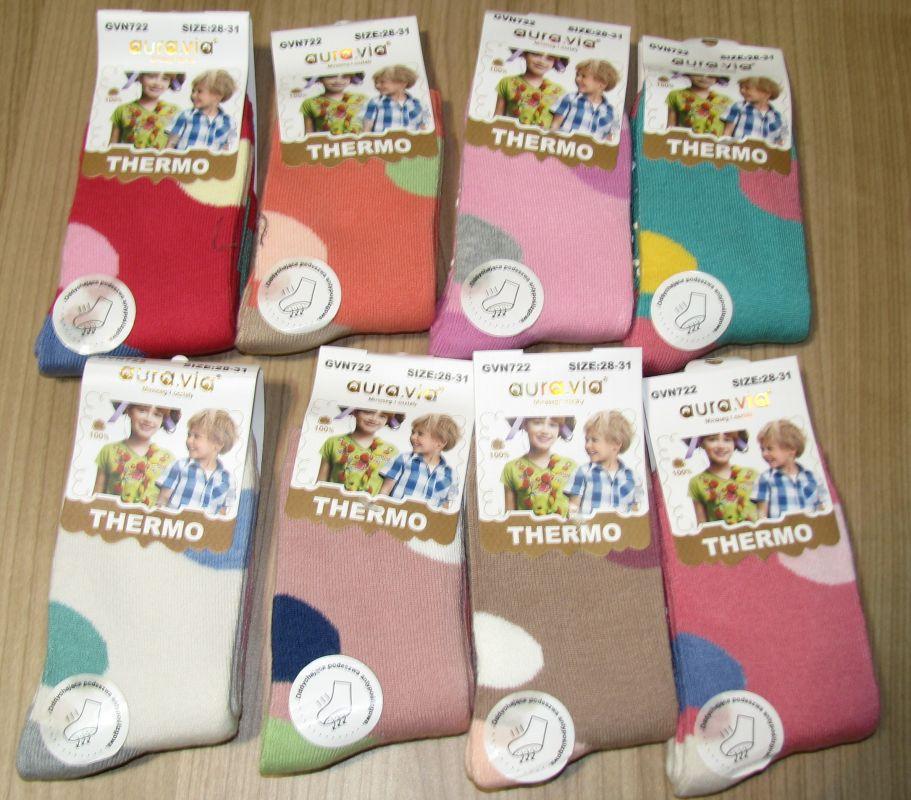 Barefoot Protiskluzové termo ponožky pro holky bosá