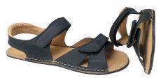 Barefoot Pánské Barefoot kožené sandále světle hnědé - normální šíře ORTOplus Barefoot bosá