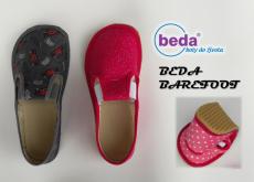 Barefoot Beda barefoot - papučky formule s bílou podrážkou bosá