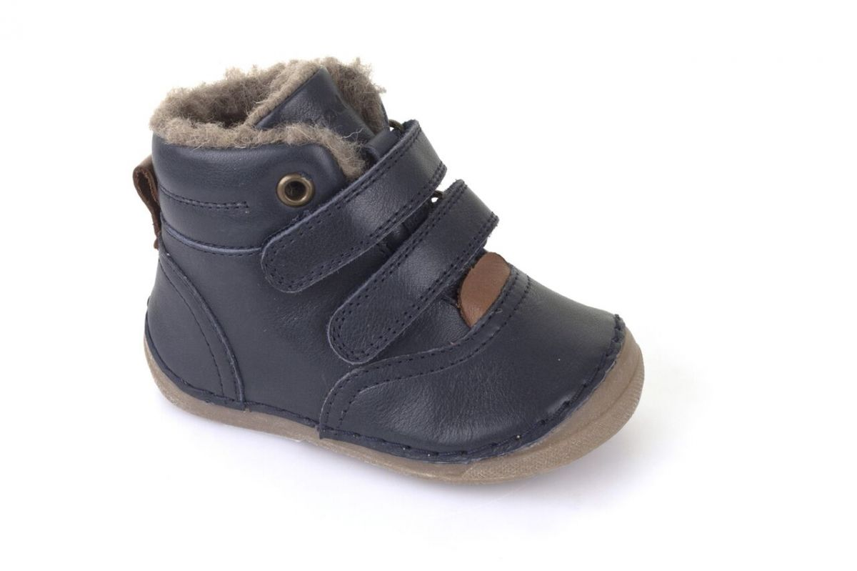 Barefoot Froddo winter boots Sheepskin dark blue bosá