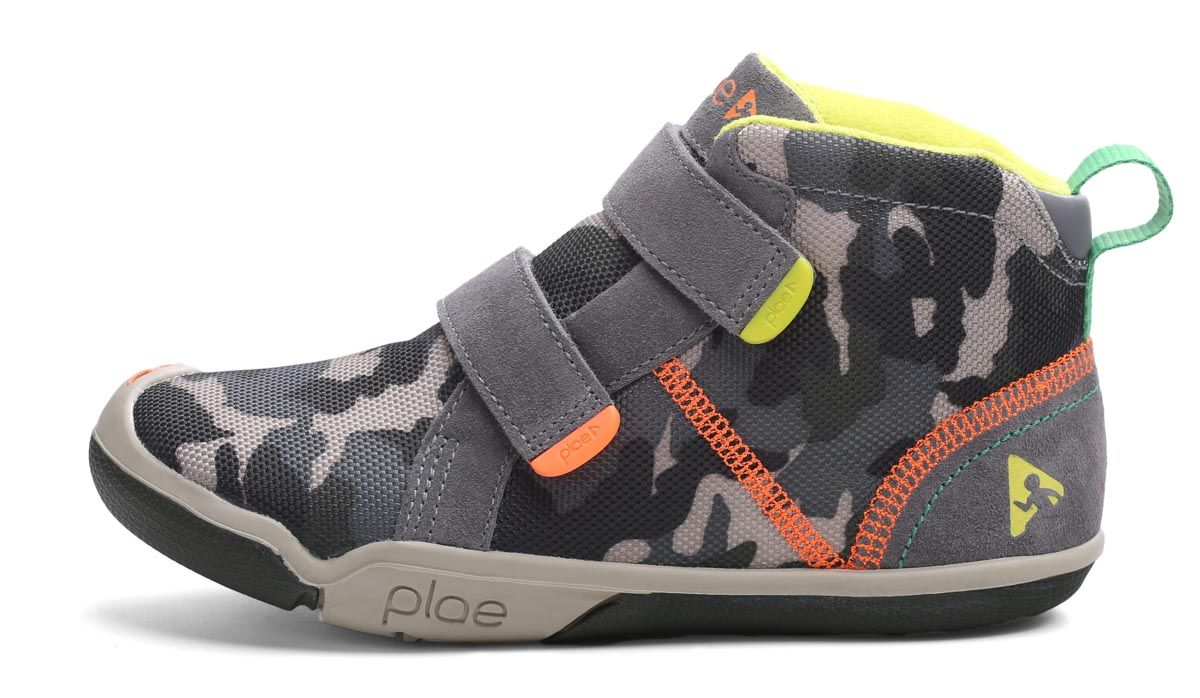 Barefoot Plae Max Suede/Camo Print Steel Camo bosá