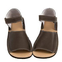 Barefoot Sandálky ZeaZoo CORAL Gray ZeaZoo Kids bosá