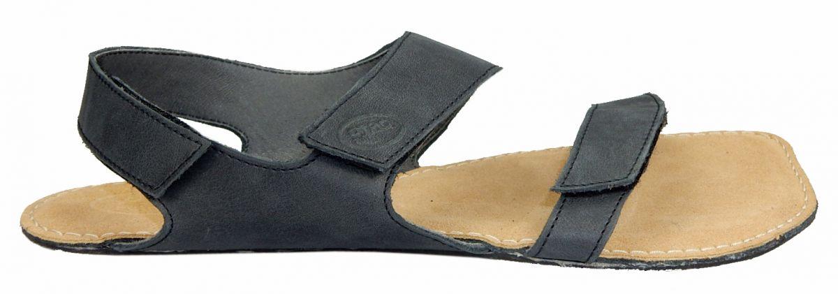 Barefoot Barefoot kožené sandále černé BF A108 -60V ORTOplus Barefoot bosá