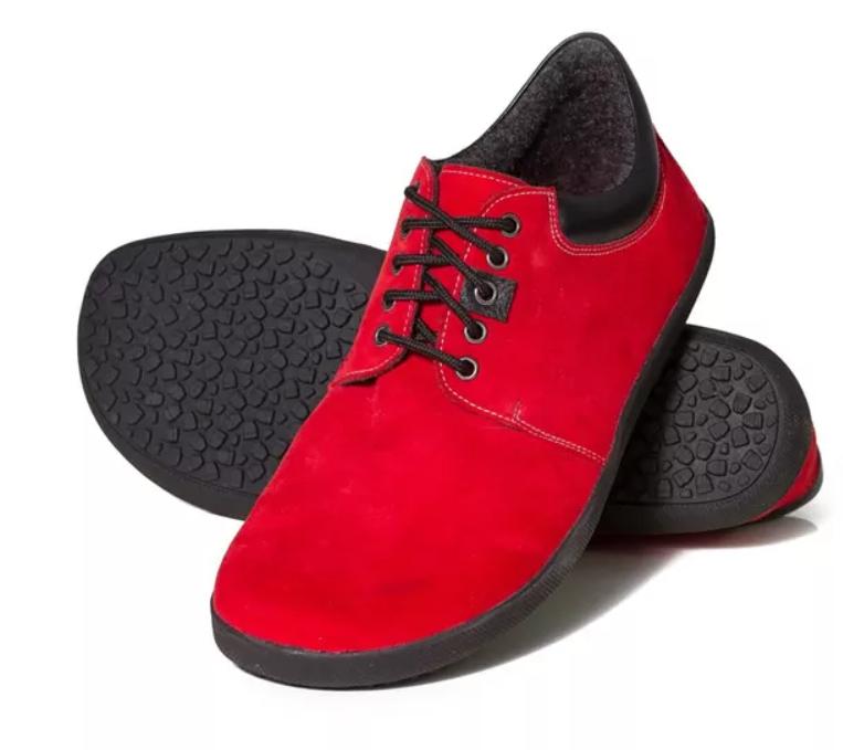 Barefoot Sole runner KARI red bosá