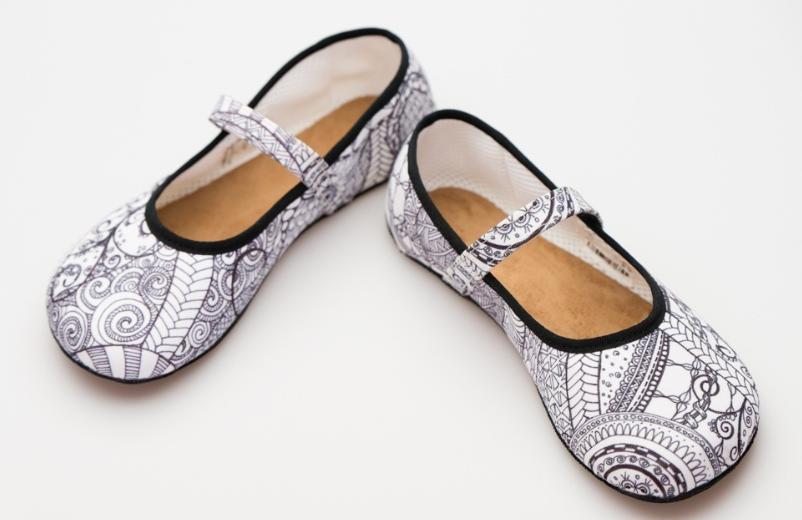 Barefoot Ahinsa shoes Balerínka Ananda Zentangle bosá