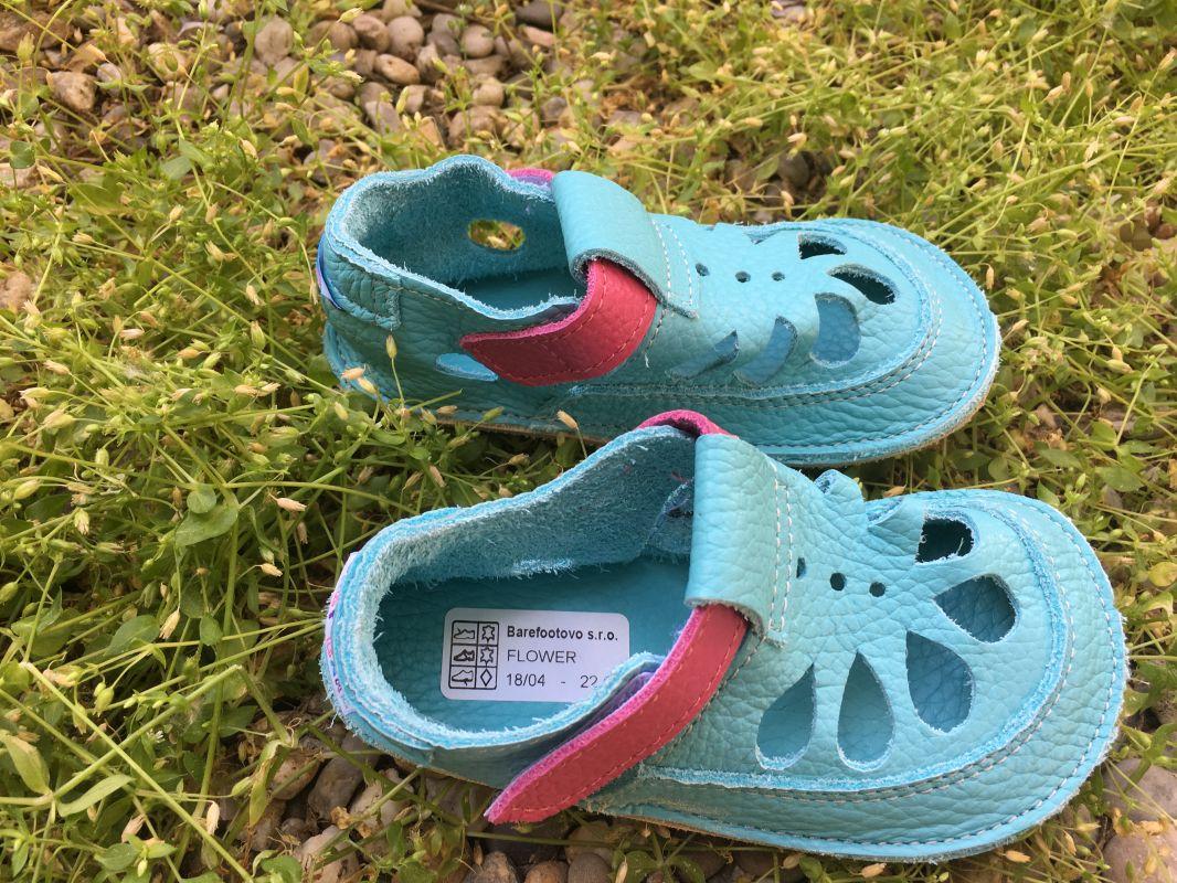 Barefoot Baby bare shoes Sandálky Flower SUMMER PERFORATION bosá