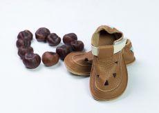 Barefoot Baby bare shoes Sandálky / papučky IO Bear TS (širší) bosá
