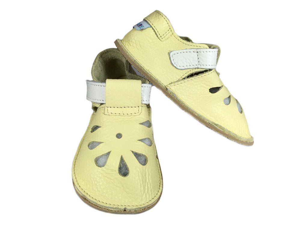 Barefoot Baby bare shoes Sandálky / papučky IO Canary bosá