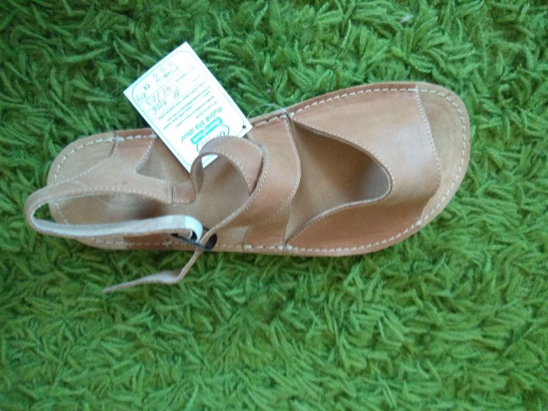 Barefoot Barefoot kožené sandále pískové ORTOplus Barefoot bosá