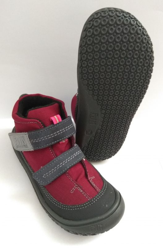 Barefoot Filii barefoot - VEGAN MAMBA TEX fleece berry/graphit M bosá