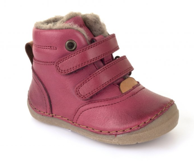 Barefoot Froddo winter boots Sheepskin bordeaux bosá