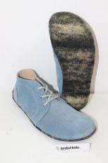 Lenka Barefoot kotníčkové kožené boty - modré