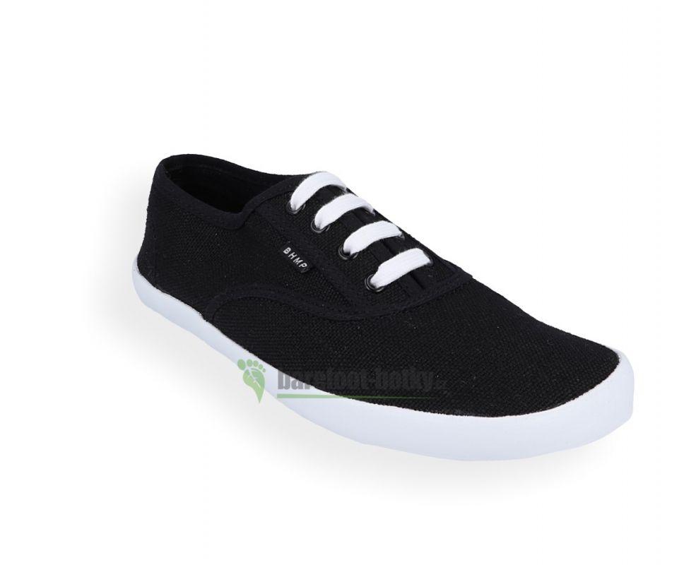 Barefoot Barefoot konopné tenísky Kolda plus Black-white Bohempia bosá