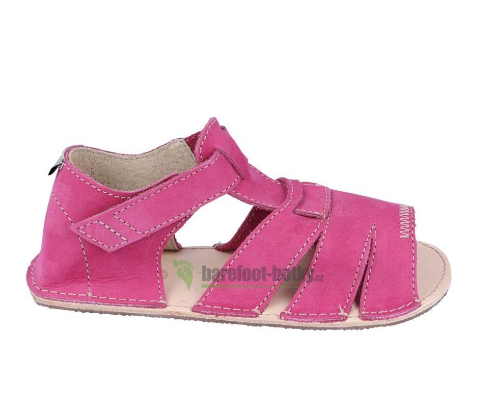 Barefoot Ortoplus barefoot sandálky D200 fuchsiové bosá