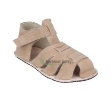 Barefoot Ortoplus barefoot sandálky D201 pískové bosá